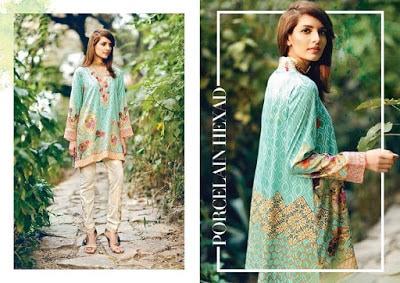 cross stitch winter unstitched cotton dresses Collection 2018-19-15