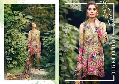 cross stitch winter unstitched cotton dresses Collection 2018-19-3