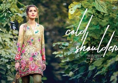 cross stitch winter unstitched cotton dresses Collection 2018-19-6