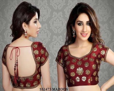 Indian-latest-brocade-blouse-designs-saree-2017-for-women-2