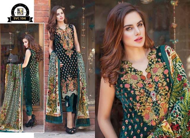 Shaista-latest-silk-velvet-dresses-winter-collection-2016-2017-for-women-2