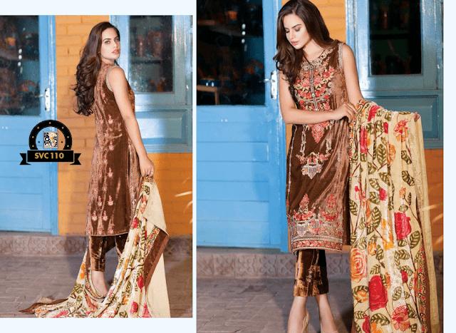 Shaista-latest-silk-velvet-dresses-winter-collection-2016-2017-for-women-6