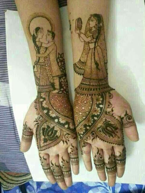 best-and-simple-Indian-bridal-mehndi-designs-for-hands-for-beginner-10