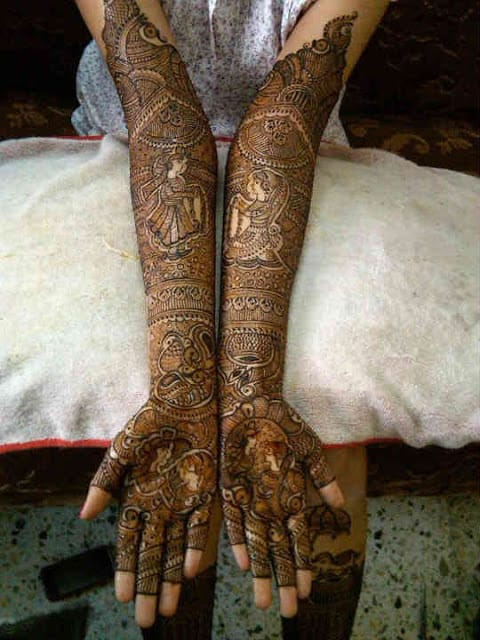 best-and-simple-Indian-bridal-mehndi-designs-for-hands-for-beginner-15