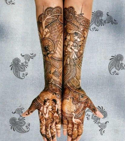 best-and-simple-Indian-bridal-mehndi-designs-for-hands-for-beginner-28