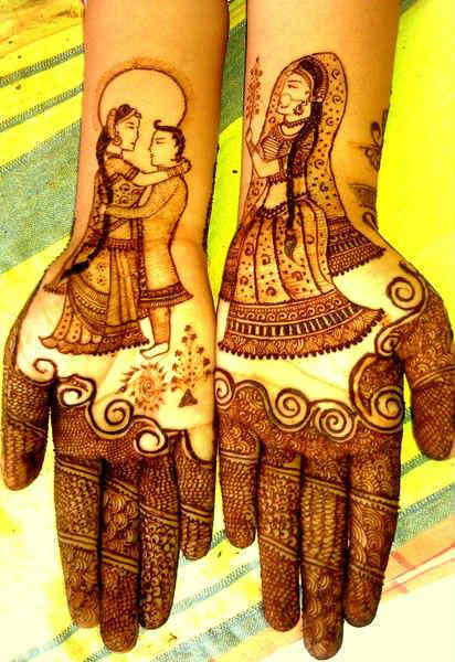 best-and-simple-Indian-bridal-mehndi-designs-for-hands-for-beginner-7