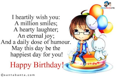 funny happy birthday wishes for a guy