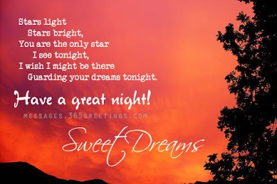 cute romantic good night messages for her