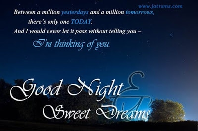romantic good night messages for lovers