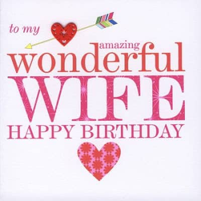 birthday wish for wife from husband