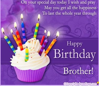 happy birthday wishes to my lovely brother