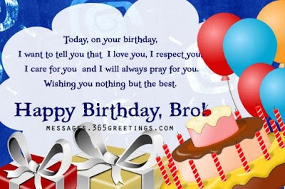 happy birthday wishes for brother on facebook wall