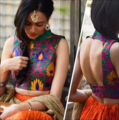 Indian-latest-fancy-sleeveless-blouse-designs-for-sarees-4