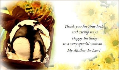 happy birthday wishes for my mother in law