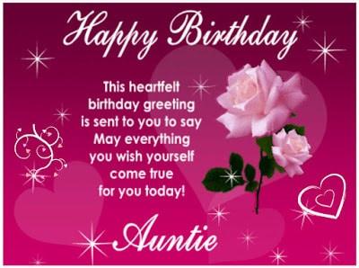 happy birthday to my favorite aunt quotes