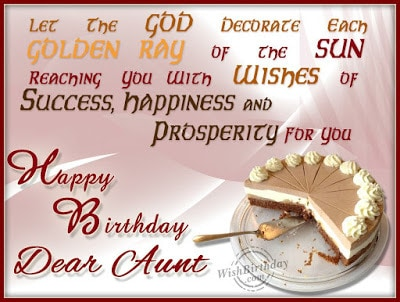 happy birthday wishes for an aunt