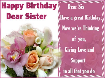 birthday wishes for the best sister in the world
