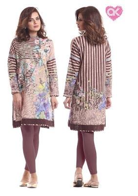 Alkaram pret kurti designs for ladies