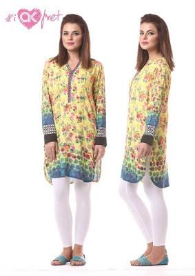 Alkaram kurti designs for girls