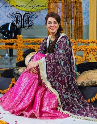 Amna Ajmal bridal wear & groom Dresses 2018 collection (2)