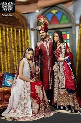 Amna Ajmal bridal wear & groom Dresses 2018 collection (4)
