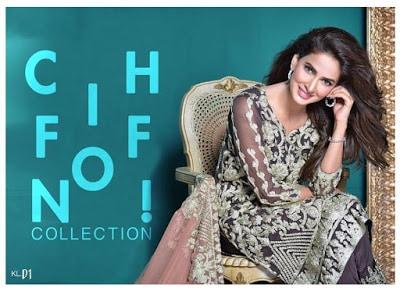 Kalyan Pure Chiffon Dresses Collection 2017 by ZS Textile