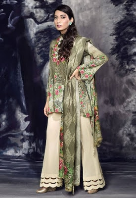 cross stitch winter linen khaddar dresses Collection 2018 (13)