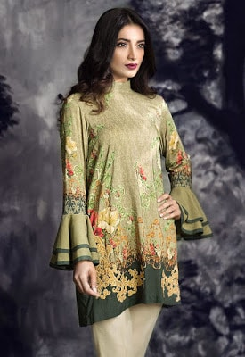 cross stitch winter linen khaddar dresses Collection 2018 (2)