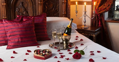 how to set up a romantic room for valentine's day