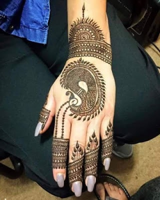 latest bridal mehndi Designs 2018 for hands for full hands (14)