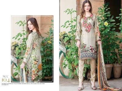Shaista silk pakistani dresses 2017