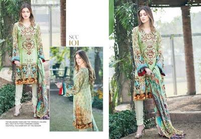 Shaista embroidered womens silk dresses 2017