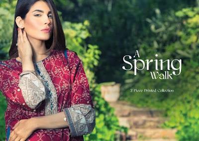 Alkaram Spring Printed Lawn Dress Designs 2017 Collection