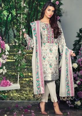 Alkaram cute summer lawn print dresses 2017 for women