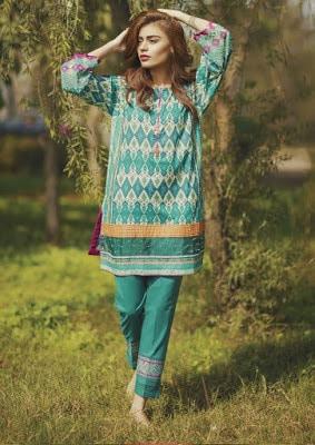 Alkaram latest summer lawn Collection 2018 in pakistan