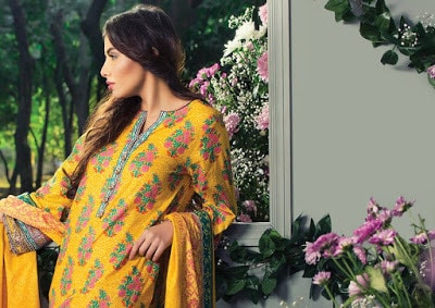 Alkaram womens casual summer lawn print dresses 2017 with price