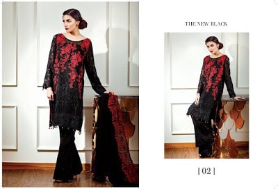 Baroque new black Luxury wear chiffon dresses