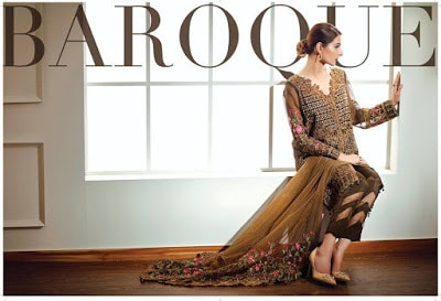 Baroque printed chiffon dresses range for casual wear