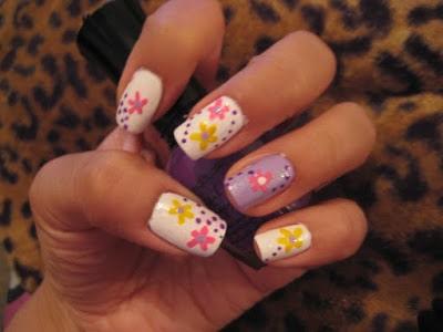 Cute Spring Floral Nail Art Designs Ideas Photos