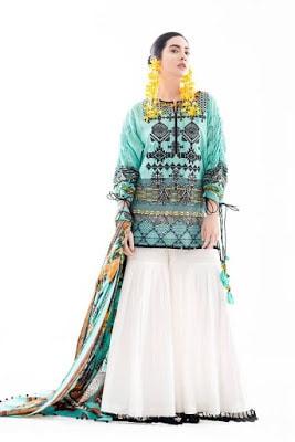 Ethnic Summer Unstitched Renaissance Lawn Dresses 2017 Collection