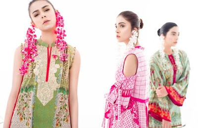 Ethnic lawn dresses unstitching designs for girls