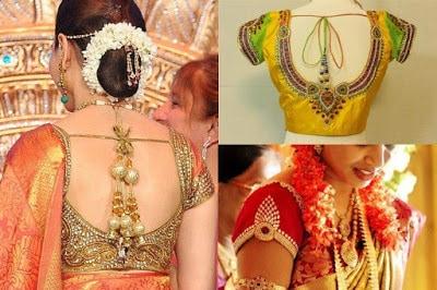 Indian-pattu-blouse-designs-for-silk-sarees-2017-for-women-2