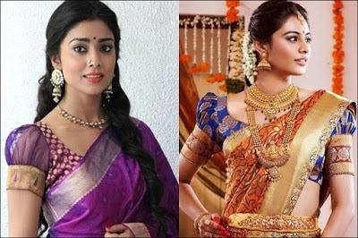 Indian-pattu-blouse-designs-for-silk-sarees-2017-for-women-3