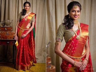 Indian-pattu-blouse-designs-for-silk-sarees-2017-for-women-5