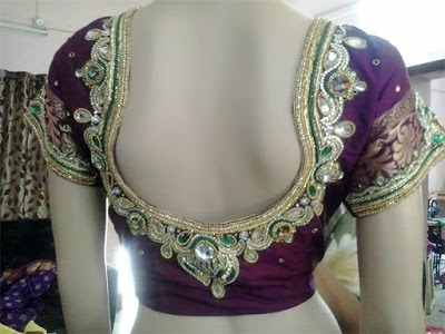 Indian-pattu-blouse-designs-for-silk-sarees-2017-for-women-7