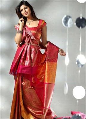 Indian-pattu-blouse-designs-for-silk-sarees-2017-for-women-8