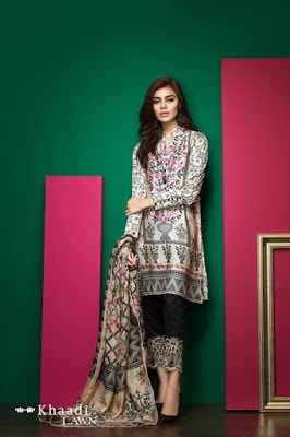 Khaadi-latest-summer-lawn-designs-satin-collection-2017-for-girls-1