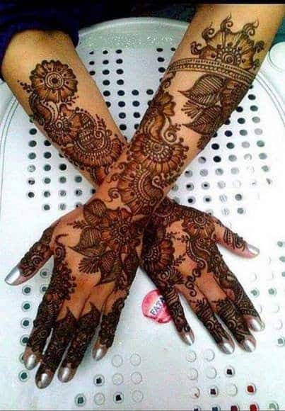 Simple bridal complicated mehndi Designs 2018
