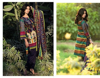 Libas Printed Lawn Collection 2017 By Shariq Textile