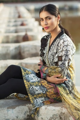 Mausummery summer lawn suits designs 2017